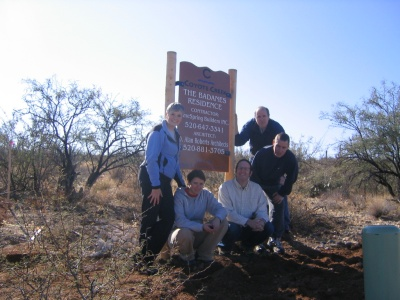 The Badanes Family sign