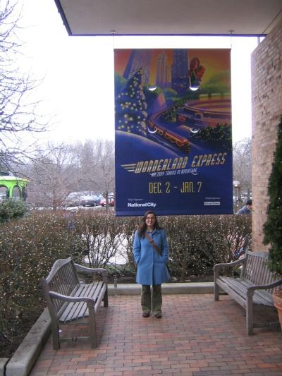 Carolyn and Wonderland Express Sign