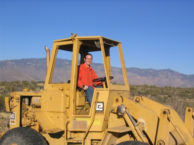 Matt on a bulldozer
