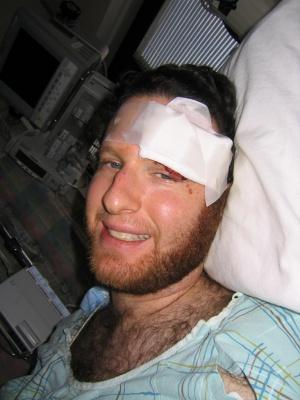 Matt in the hospital